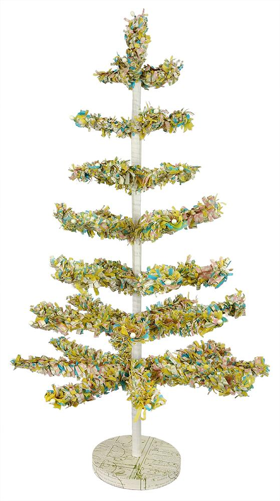 lighted easter egg tree indoor outdoor electric 5 feet tall by 3 feet wide led lights 96 egg lights wired on metal stand base comes boxed 2261670 - Feather Christmas Trees