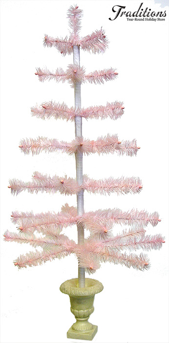 Feather Trees Tinsel Trees And Holiday Trees Too! - Pink Feather Christmas Tree