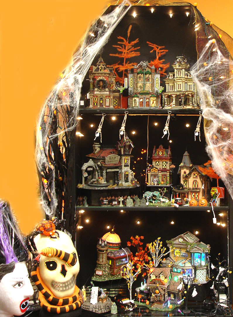 department 56 halloween village. Black Bedroom Furniture Sets. Home Design Ideas