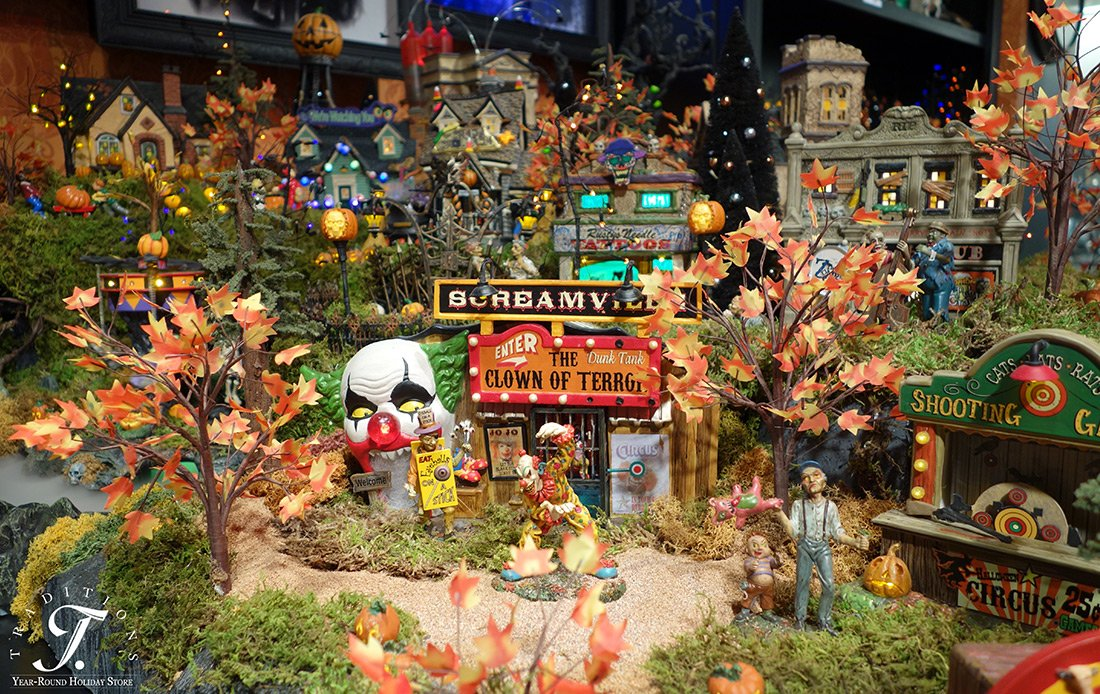 department 56 halloween village houses