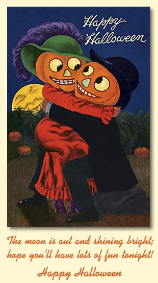 Old world christmas greeting cards halloween hugs 89773 the moon is out and shining bright hope youll have lots of fun tonight happy halloween m4hsunfo