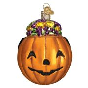 in stock old world christmas mini halloween ornaments set12 2 each of bat jack owl crescent moon candy corn and pumpkin glass 125 225 - Halloween Christmas Ornaments