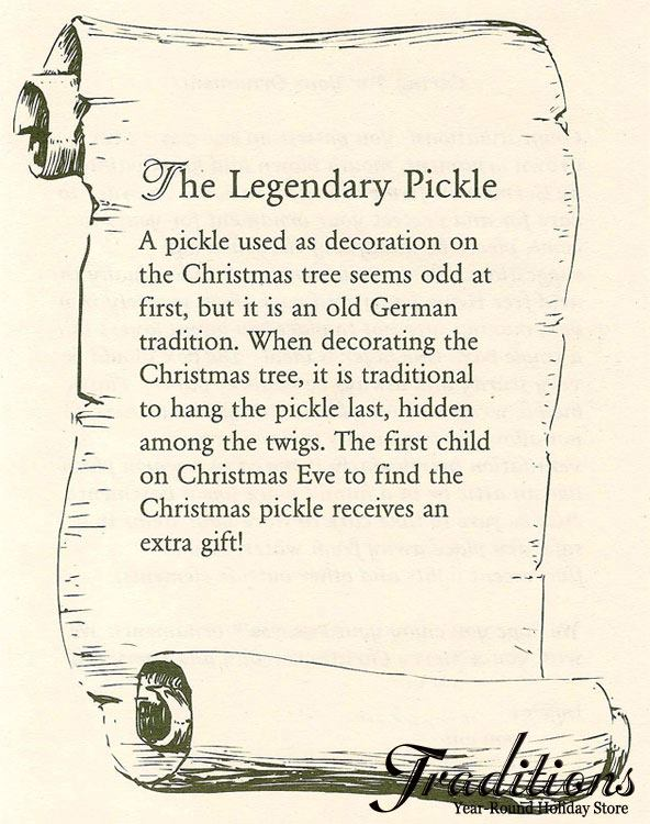 Christmas Pickle Tradition.Pickle Ornaments