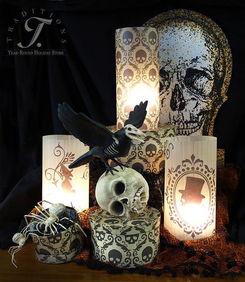 More bethany lowe vintage style halloween decor 2016 for Antique halloween decoration
