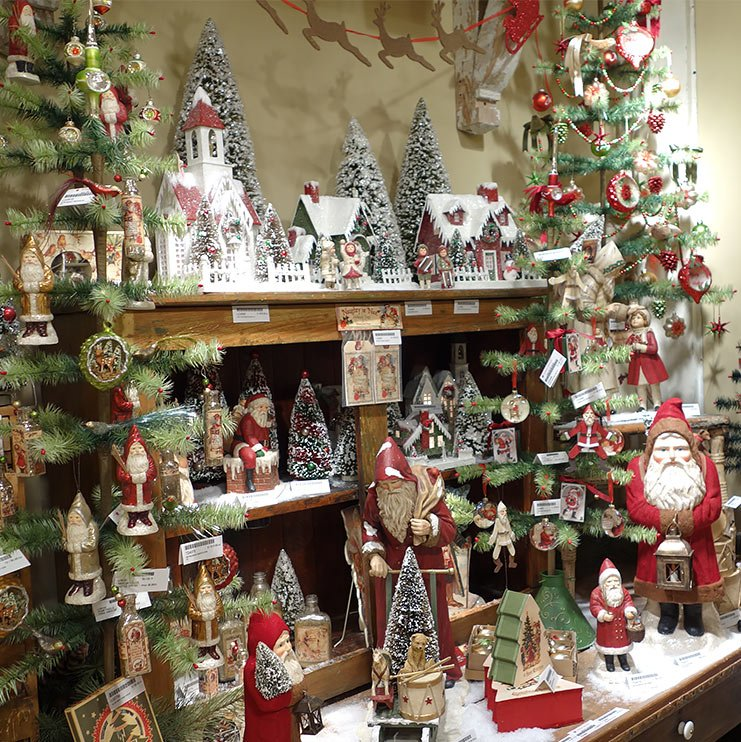 vintage christmas village trees