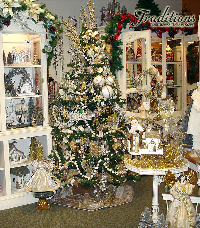 Gold Themed Christmas Decorations : Gold silver holiday decor and ornaments