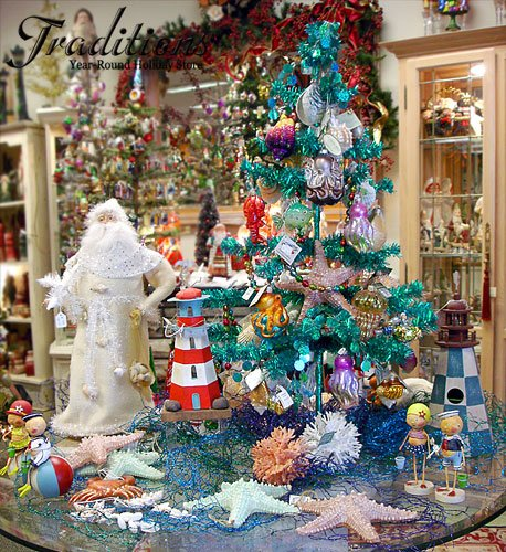 sea decor - Beach Themed Christmas Trees