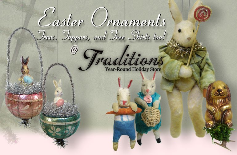 Vintage Easter Ornaments
