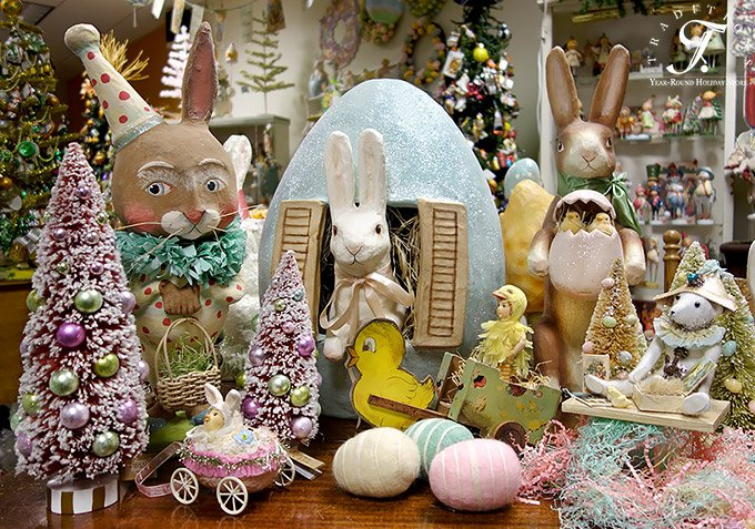 Foil Easter Decorations Vintage Easter Decor