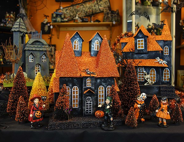 Halloween Village Houses at Traditions