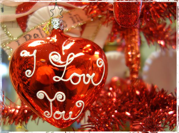 Valentine's Day Glass Ornaments