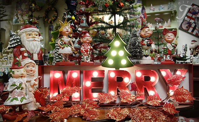 the merry marquee sign is our best selling item of the year painted tin wa string of round glass bulb lights electric tin 32x155x5 lc3660 17999 - Glass Christmas Bulbs For Decorating