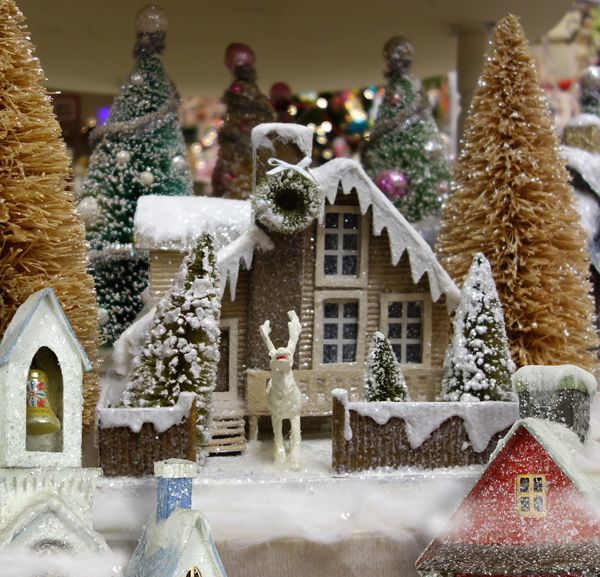 Vintage Christmas Village Houses Traditions