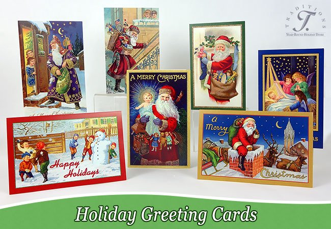 Old world christmas greeting cards package of 10 all the same card style 11 envelopes for 1799 meaning the price is lower per card than most card store prices at a 179 each m4hsunfo