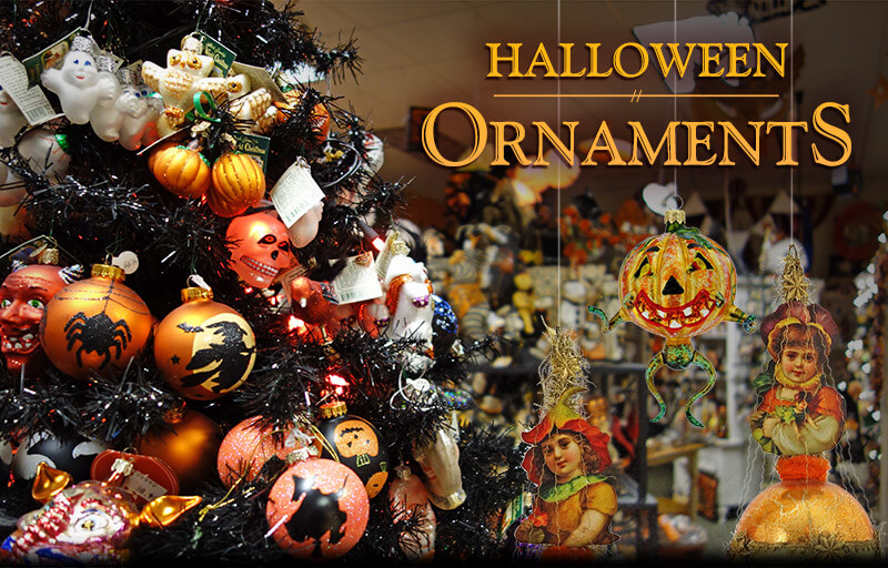 halloween ornaments glass vintage and reproduction - Halloween Christmas Ornaments