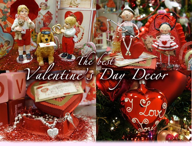 Valentine S Day Decor Is Becoming Even More Popular As You Can See From The Selection Below We Found Even More Vintage Style Valentine S Day Decor