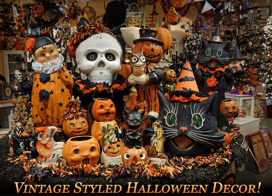 vintage halloween decor - Halloween Holiday