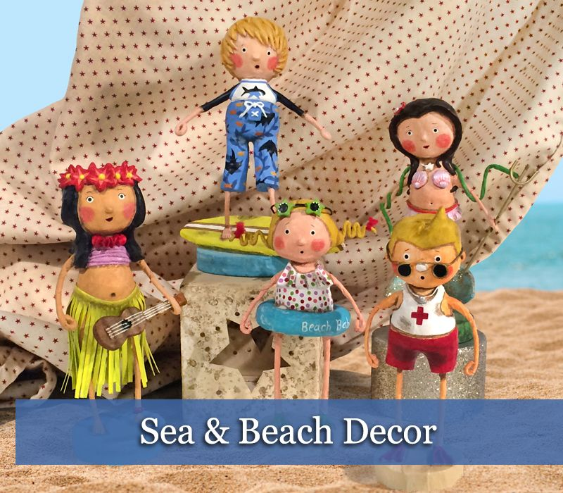 Sea Themed Ornaments & Decor