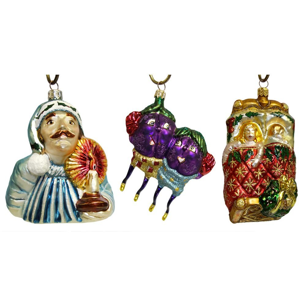 the night before christmas ornaments set3 - 12 Days Of Christmas Ornament Set