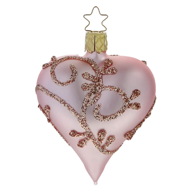 """Valentines Day Pink Red Glitter Hearts 3/"""" /& 2/"""" Ornaments Decorations Set of 10"""