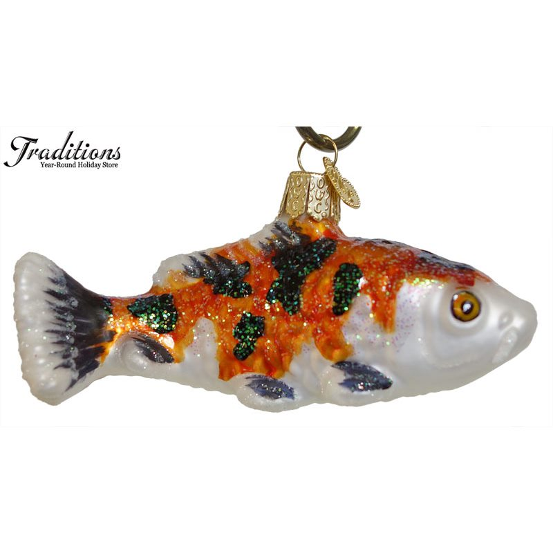 Sea shore theme ornaments fish traditions for Koi fish ornament