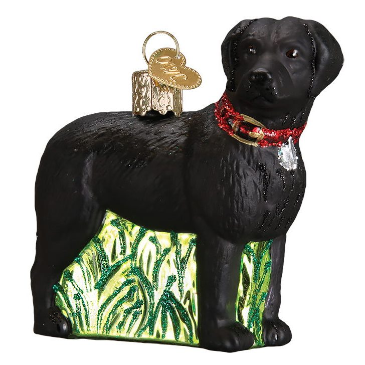 Standing Black Lab Dog Breed Ornament By Old World