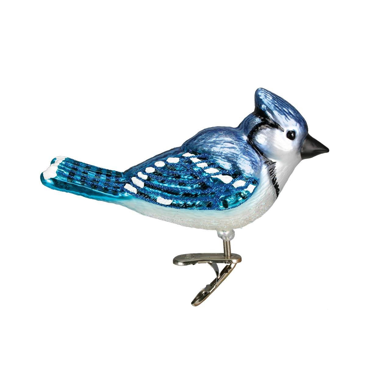 Bright Blue Jay Clip On Bird Ornament Traditions