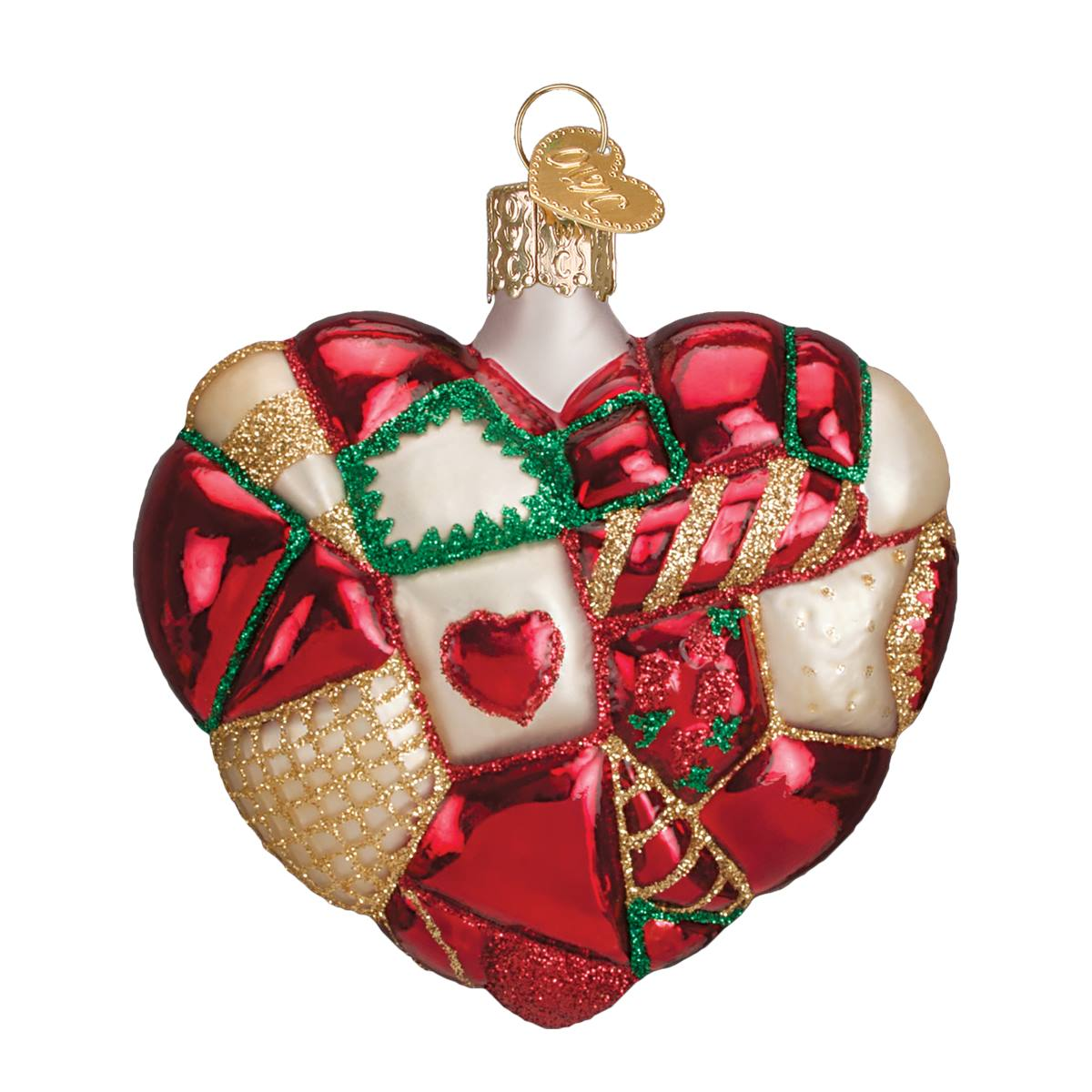 Patchwork Heart Ornament - Traditions