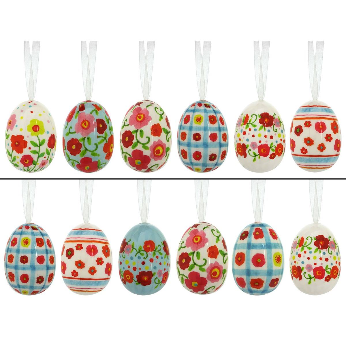 Spring Poppy Eggs Set 12