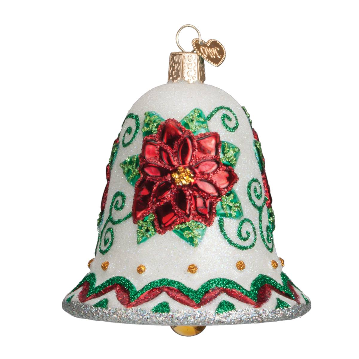 Poinsettia Bell Ornament - Traditions