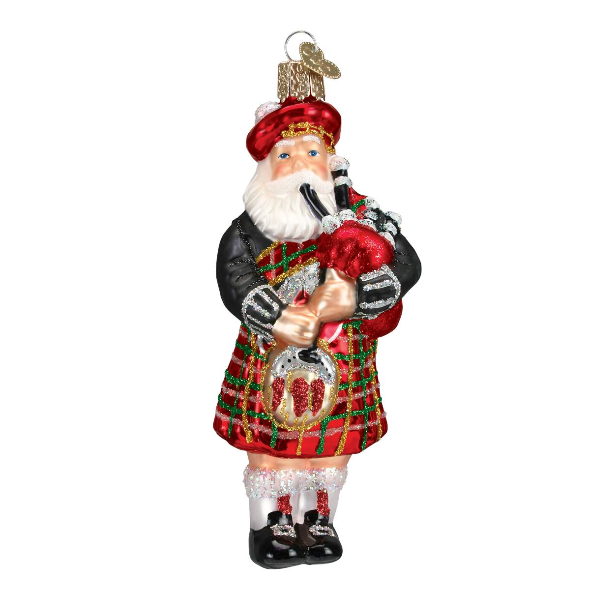 Highland Santa Ornament - Traditions
