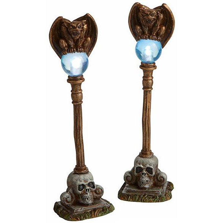 Gargoyle Lamp Posts Set 2 By Department 56 Traditions