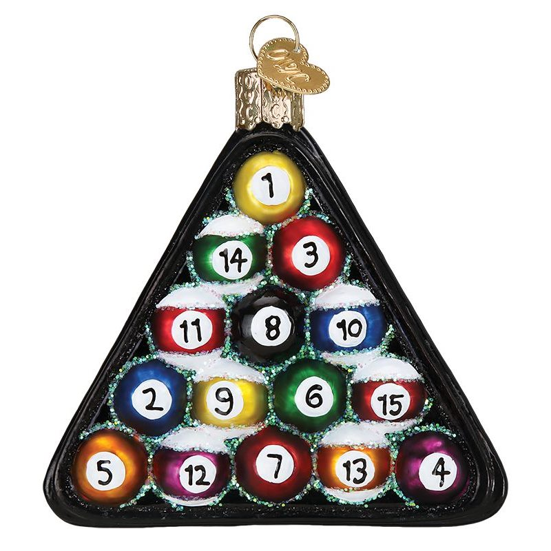 Billiard Balls U0026 Rack Ornament By Old World Christmas