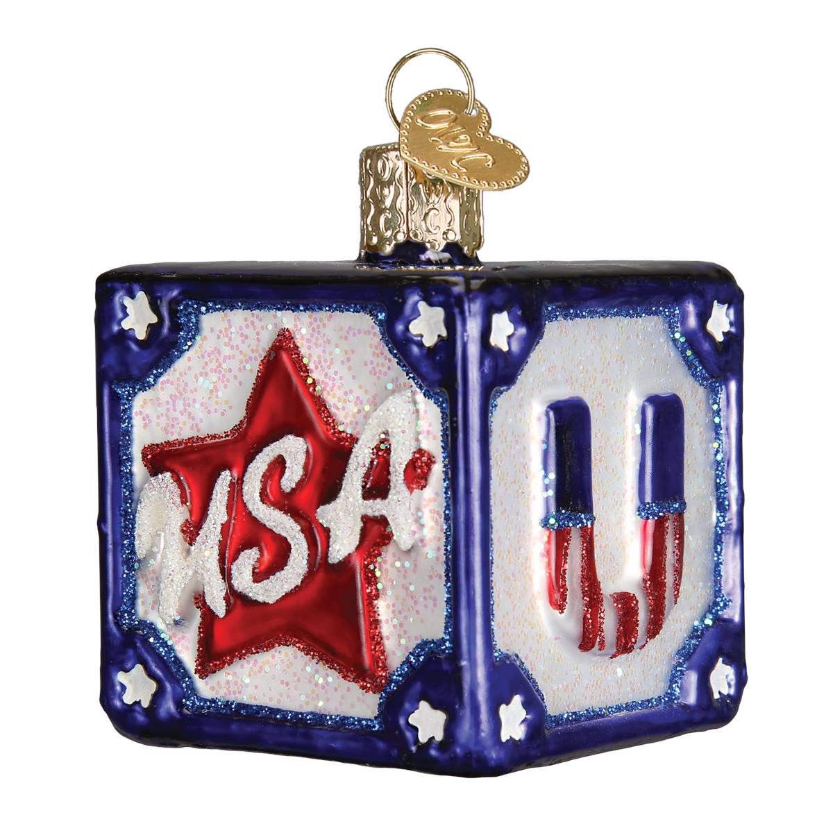 4th of July Glass Ornaments, Patriotic & Memorial Day ...