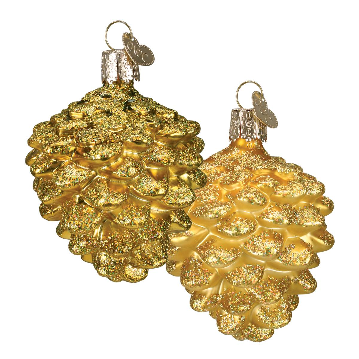 Silver gold themed ornaments traditions for Small gold christmas ornaments