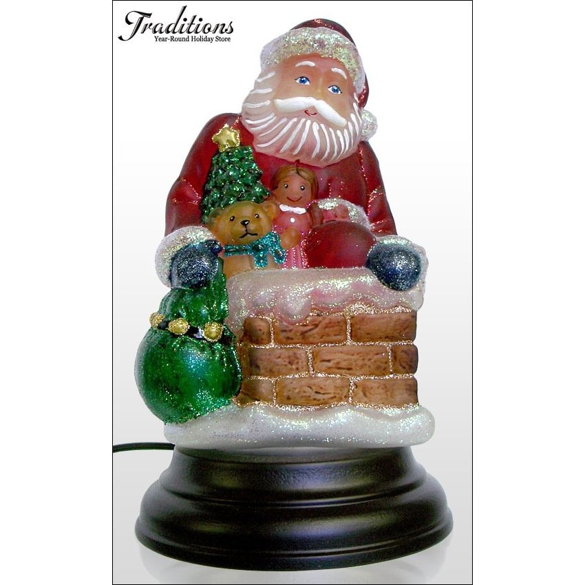 Down The Chimney Santa Night Light By Old World Christmas Traditions
