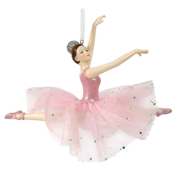 sale retailer a6cdb b5ac9 Pink Leaping Ballerina Ornament