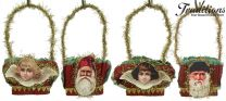 Victorian Christmas Nut Cups Set/4