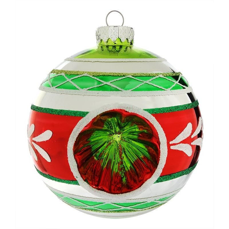 early years red reflector ball ornament