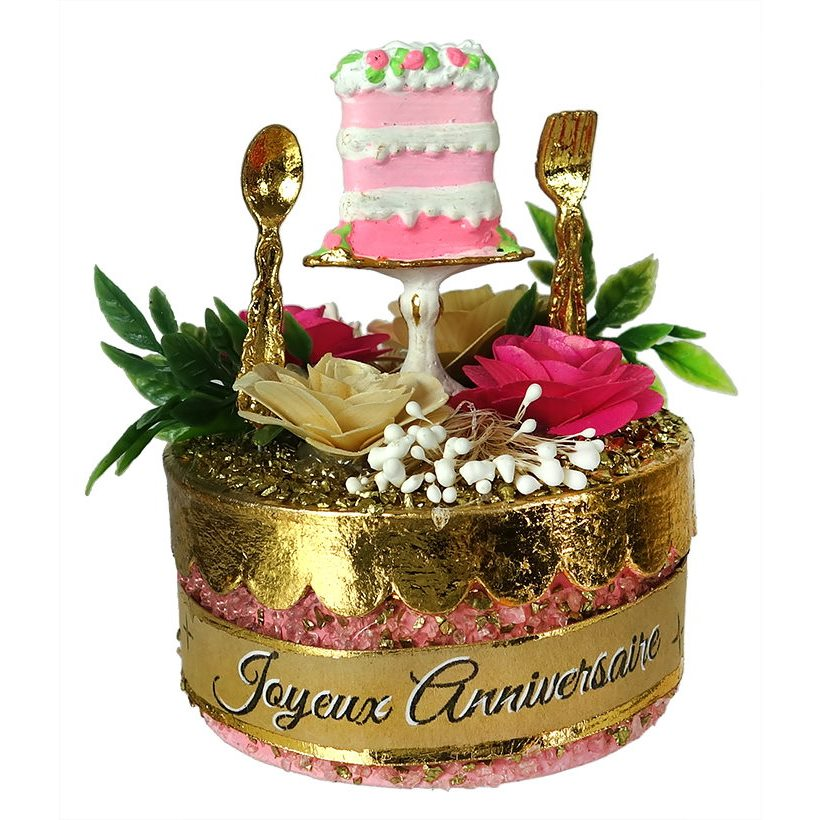 Joyeux Anniversaire Cake Favor Box By Glitterville Traditions