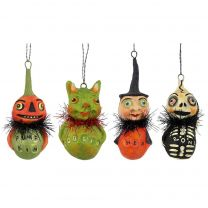Smiling Ghoul Ornaments Set/4