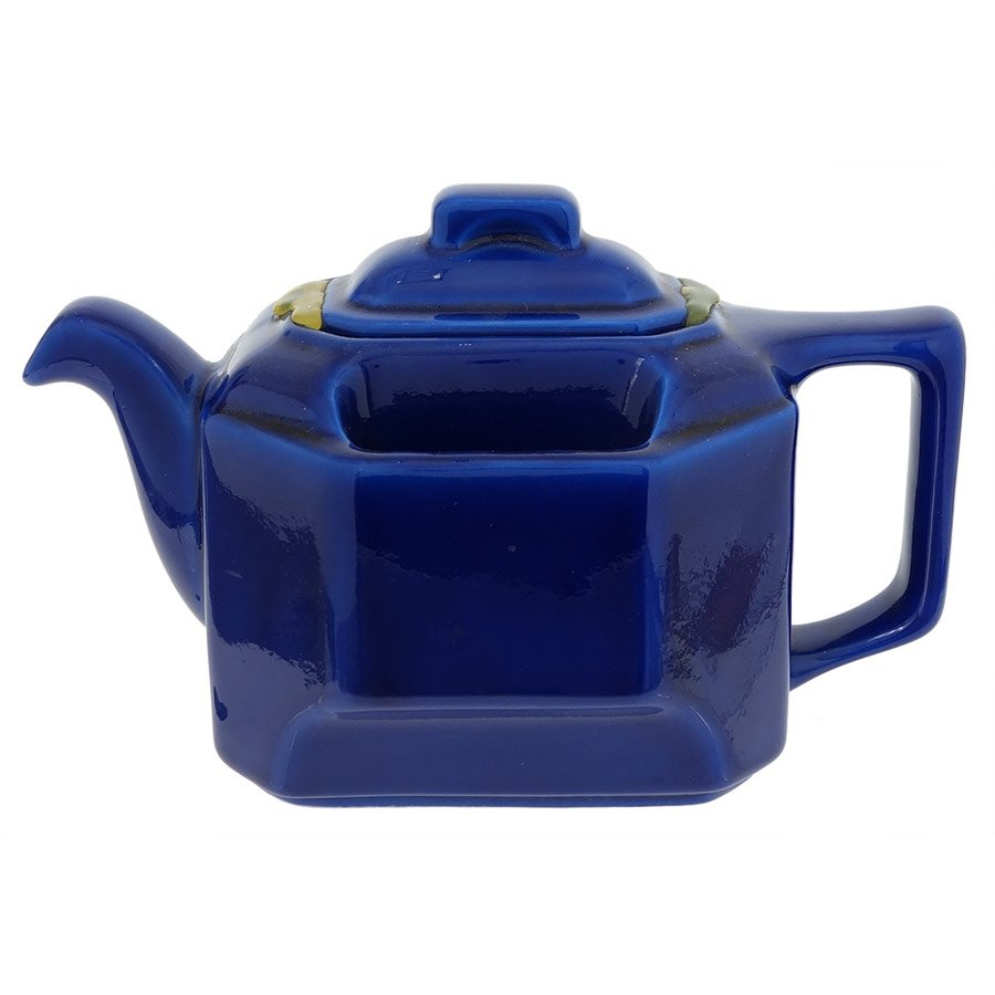 Hall Teapot T Ball Square Royal Blue By Hall Pottery