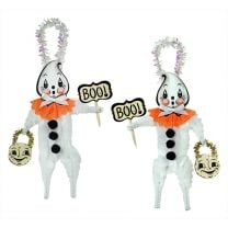 Ghostie Chenille Ornaments Set/2