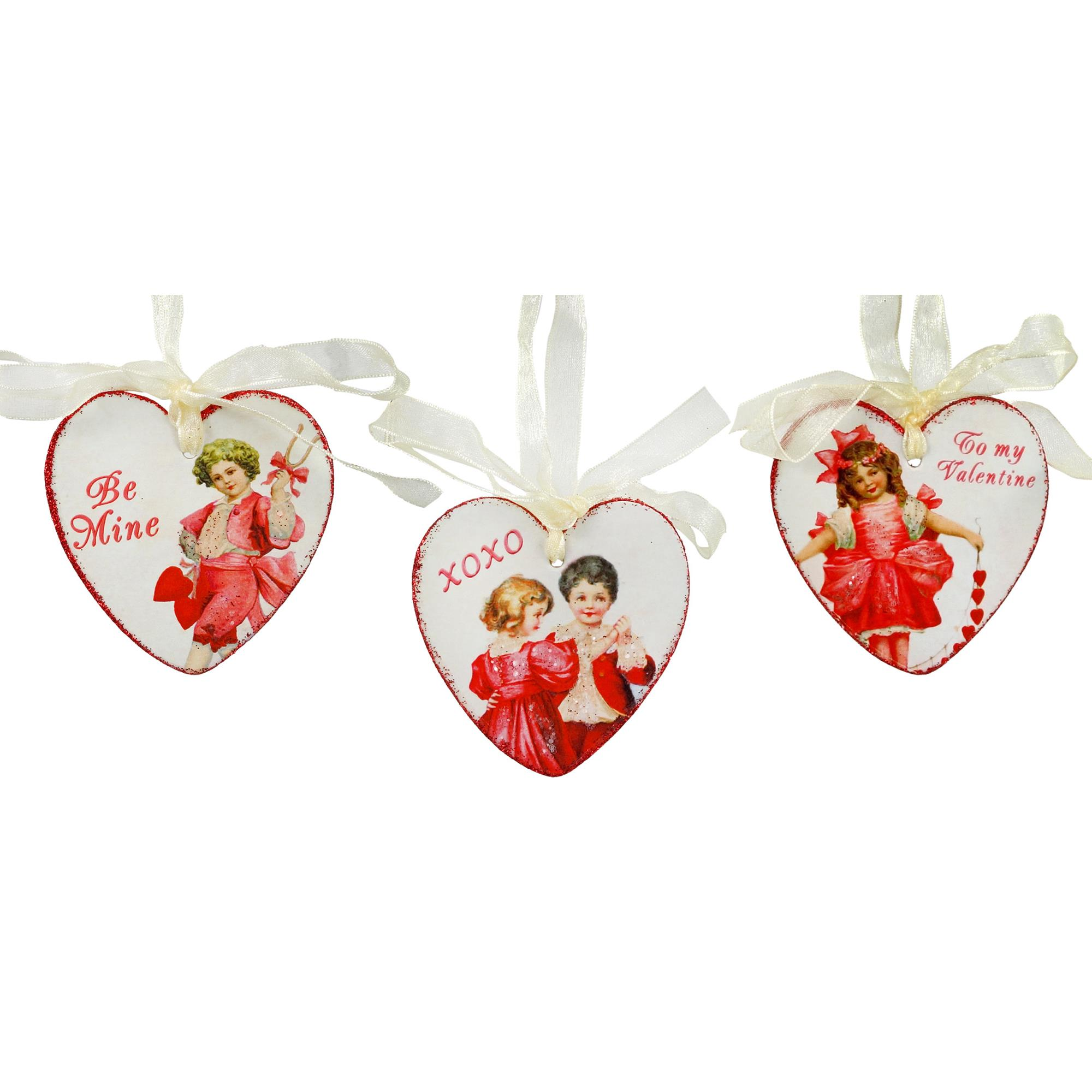 Valentine Children Heart Ornaments Set/3