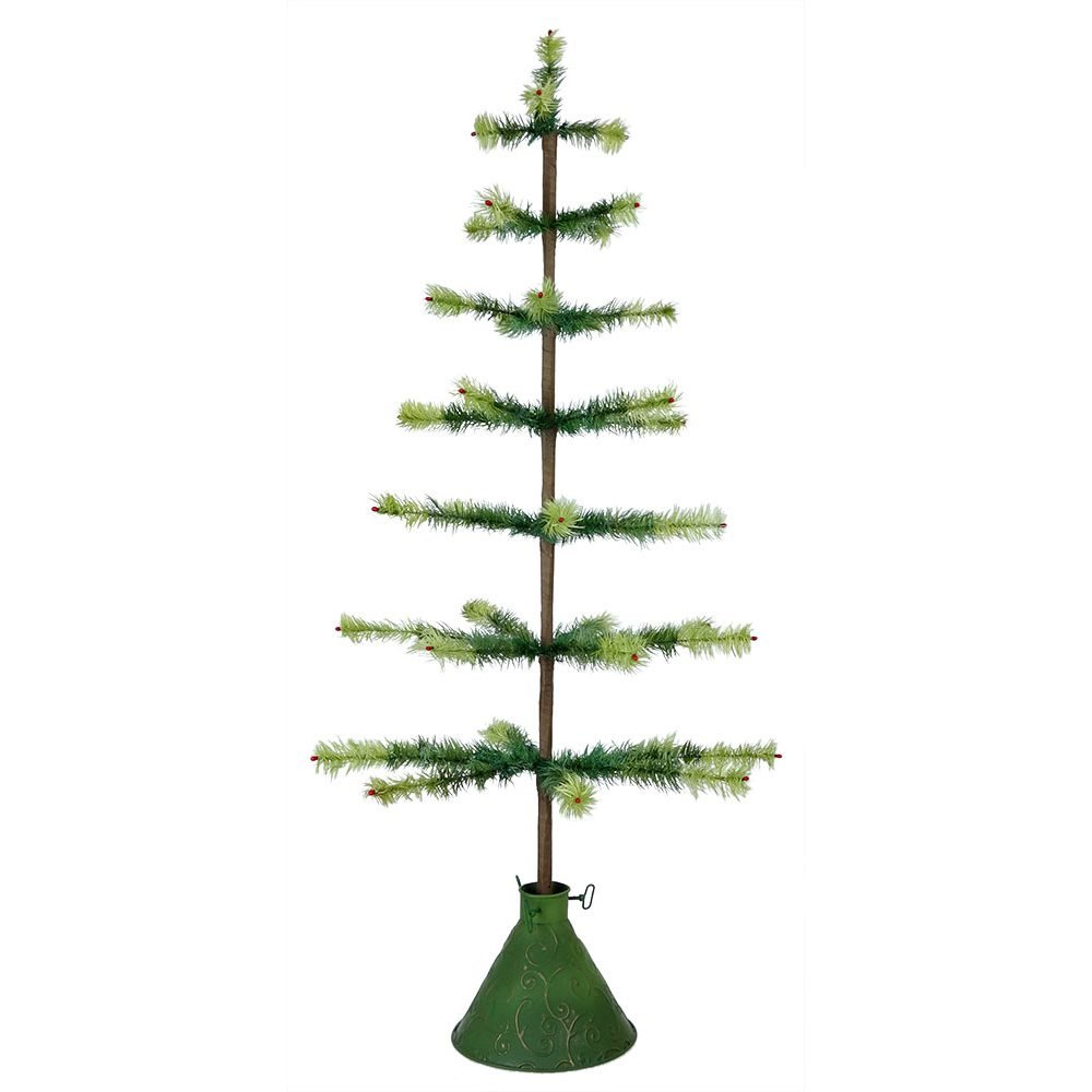 Two toned green feather tree by bethany lowe traditions