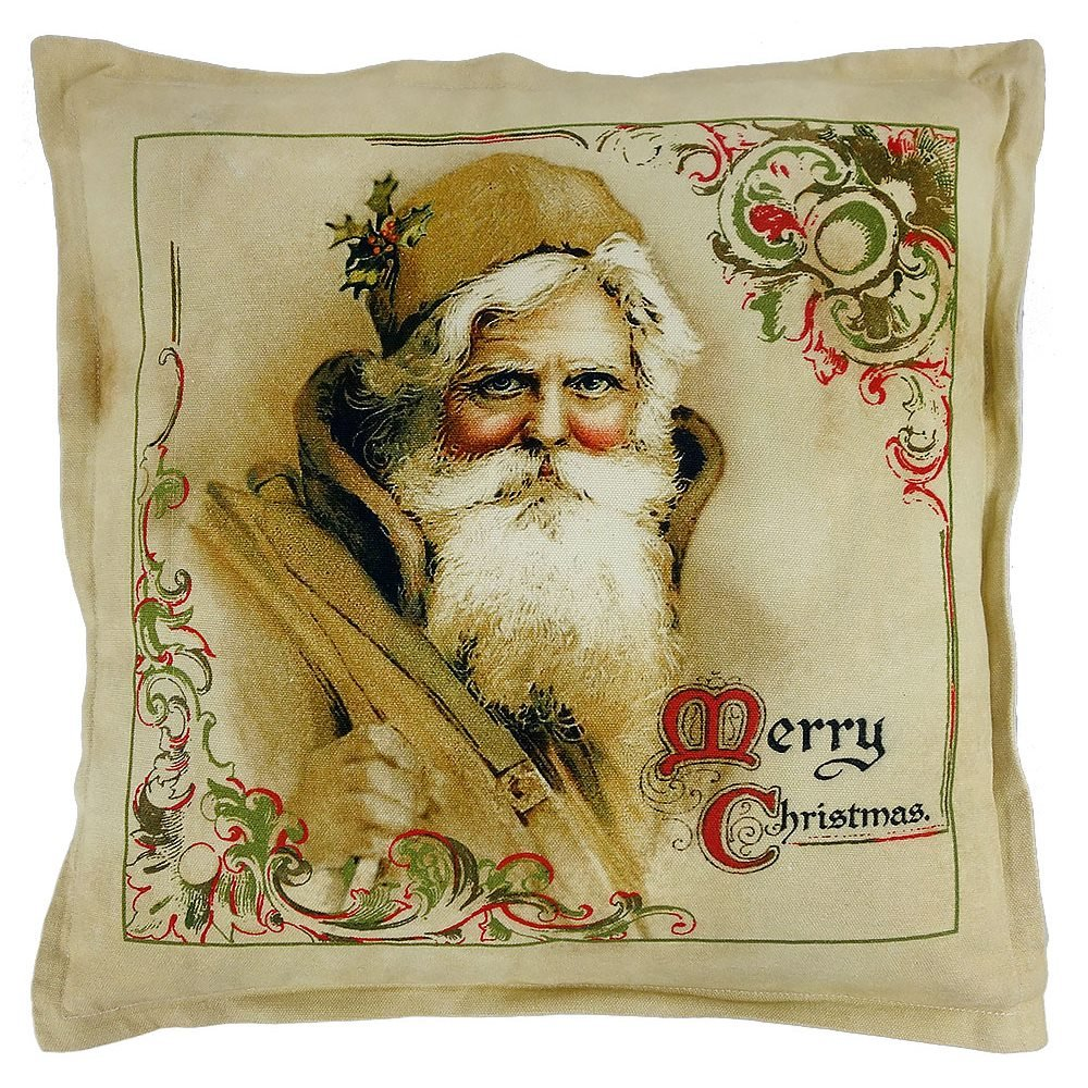 Christmas Hand Stitched Wool Pillows