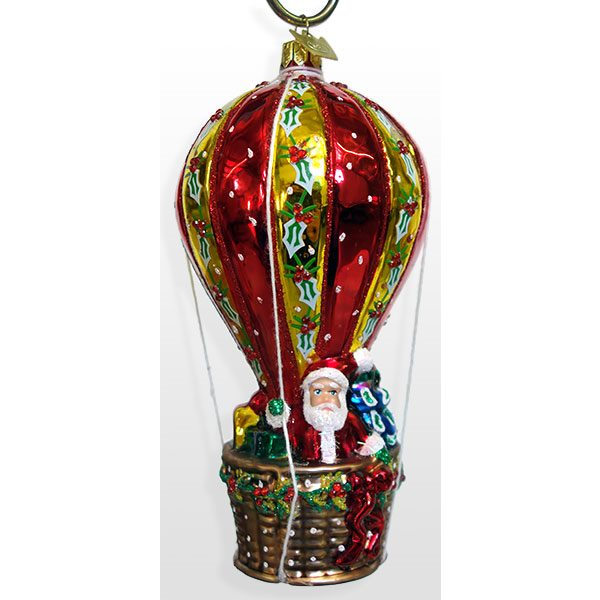 Santa In Hot Air Balloon Ornament Traditions