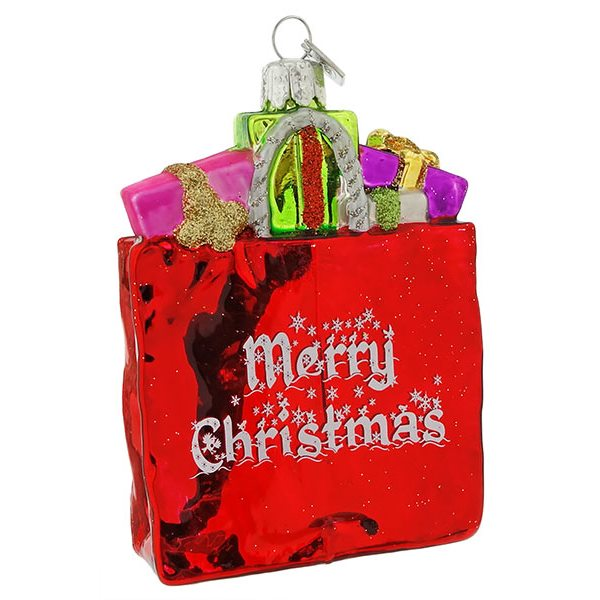 Merry Christmas Shopping Bag Ornament
