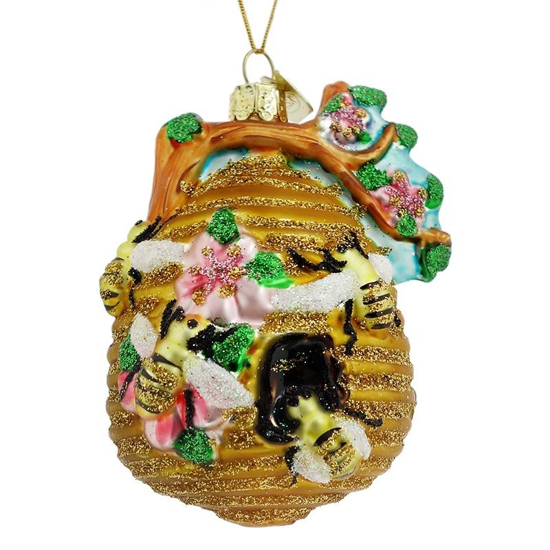 Beehive with Bees Ornament - Insect & Bug Ornaments