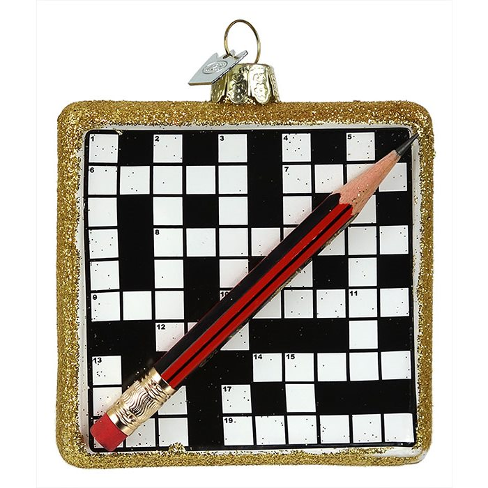 Christmas Decorations Crossword : Crossword puzzle ornament by kurt adler traditions